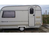 Coachman genius mini 2 berth caravan 1995 good condition in and out