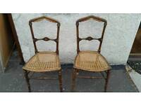 A pair of decorative chairs