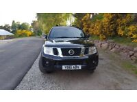 NISSAN PATHFINDER, TEKNA DCI, 4x4, 1 yr MOT, Black, full leather seats, sunroof, 7 seats and towbar