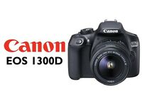 Canon EOS 1300D DSLR and 18-55mm DC Lens with 16gb mmc