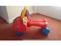 Fisher Price musical ride n stride
