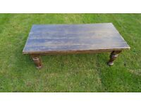 Vintage Solid Sturdy Wooden Coffee Table Upcycle Project