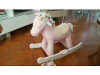 Kiddiecare pink rocking horse very good condition