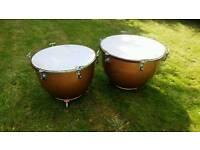 Premier hand tuned timpani drums