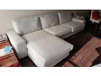 Light grey IKEA Kivic corner sofa