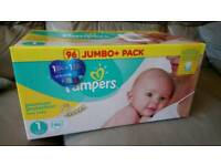 Pampers size 1 Jumbo Pack