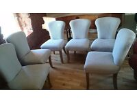 Dining chairs, set of 6, unused as new