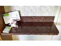 red granite shelf