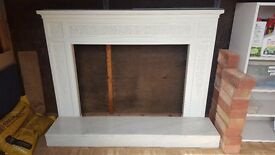 Fireplace with Marble hearth