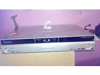 pioneer dvd hdd recordr with remote pause live tv