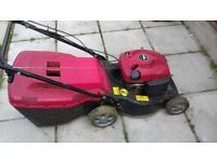 mountfield petrol mower 4hp engine power drive grassbox