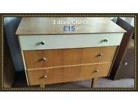 3 draw Chest of drawers
