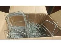 Metal pegs staples for weed control fabric