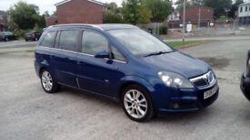 Vauxhall zafira 1.8 sri petrol