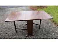 Gate legged oak table.
