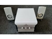 Auna 330 2.1 Speaker system with subwoofer white