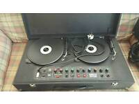 Vintage Disco star dj decks and speakers