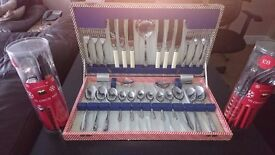 Canteen of cutlery and 2 Christmas sets