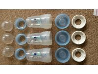 3 MAM blue anti-colic self sterilizing baby bottles