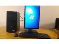 "FAST SSD - Dell Vostro 230 Computer Tower PC & 19"" Dell LCD - Last ONE Bargain - Save £20"