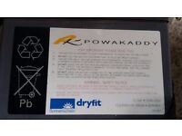 Used Sonnenschein dryfit battery 12V 24Ah C20 Germany PK 483 for golf trolley