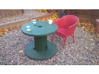 Small table (recycled from cable reel). Only 2 left!
