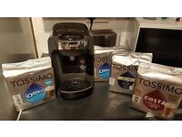 Bosch Tassimo Hot Drinks & Coffee Machine + 4 BOXES drink Pods -BUNDLE