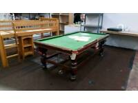 3/4 snooker and pool table