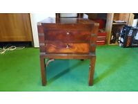 Solid Dark Wood Console Table