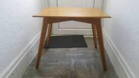 Solid oak retro side table