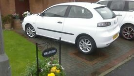 Seat Ibiza Freerider Petrol, white in mint condition.Two lady owners from new £2500