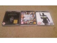 PS3 - MW3, skyrim & GTA 5
