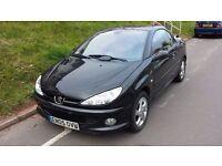 Peugeot 206cc Convertible Solid roof Car 2005 Black 1.6 new mot