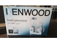 Kenwood Food Processor as new