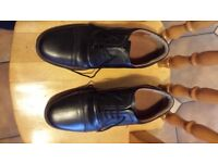 Men's size 6 smart black leather shoes bought for RAF cadets, hardly worn.