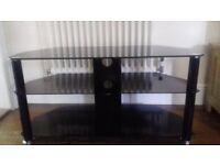 TV/Multi Media Smoked Glass Stand