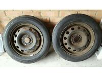 "4x108 14"" Ford Fiesta Steel Wheels NEW tyres 175 65 R14"