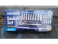 kincrome socket set 24pc brand new