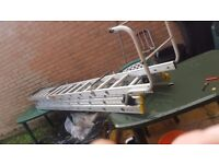 3 tier ladder 7.5metre and a roofing cat ladder