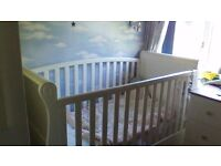 babys sleigh bed cot for sale