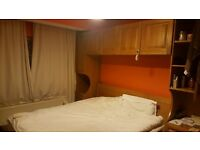 Huge double bedroom with fitted wardrobes