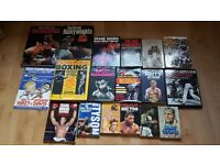 A Collection of Boxing books and a signed programme of Jim Watt