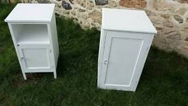 Two lovely vintage painted cabinets