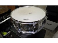 Sonor Force 505 Metal 5.5x14 Snare Drum in good condition & with soft case
