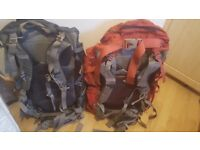 Two Osprey backpacks