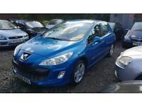 2008 PEUGEOT 308 1.6 SPORT WITH NEW MOT £2495 ONO