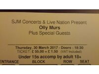 Olly Murs 30th March 2 tickets