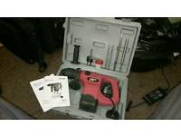 Hammer drill with bits nearly new