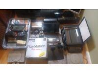 Computer stuff, 3x PlayStation's,printers. Job lot