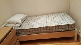 Single bed IKEA including mattress